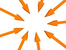 Arrows background Stock Image