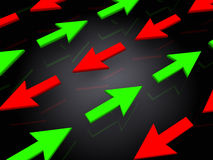Arrows background. Abstract 3d illustration of different directions arrows background Stock Photos