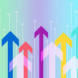 Arrows Background Shows Pointing Up Or Growth Royalty Free Stock Image