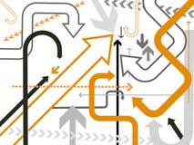 arrows background vector Στοκ φωτογραφία με δικαίωμα ελεύθερης χρήσης