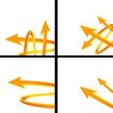 Arrows banner Stock Photos