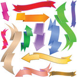 Arrows and banners. Vector illustration Stock Photos
