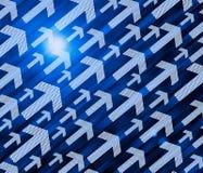 Arrows and binary code Royalty Free Stock Photos
