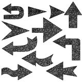 Arrows in black and white Stock Photos