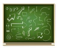 Arrows on blackboard Royalty Free Stock Image