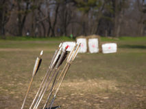 The arrows for the bow. Stock Photo