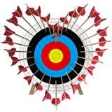 Arrows build Heart Stock Photography
