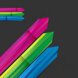 Arrows business background. Graphic made of striped arrows on a dark background Royalty Free Stock Images