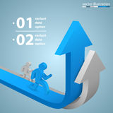 Arrows business growth Royalty Free Stock Images