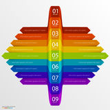 Arrows business growth rainbow Stock Photo