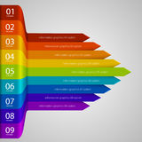 Arrows business growth rainbow Stock Images
