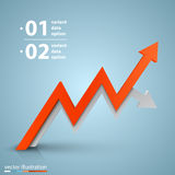 Arrows business growth. Vector Stock Photography