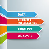 Arrows Business Intelligence Royalty Free Stock Photography