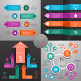 Arrows business marketing infographic template   Stock Images