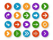 Arrows button. Arrow icon up next back down left website play navigation cursor interface upload page arrowheads, color stock illustration