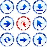 Arrows  buttons. Royalty Free Stock Photo