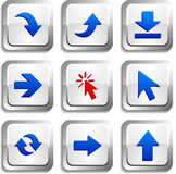 Arrows  buttons. Royalty Free Stock Photos