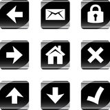arrows buttons close home mail ok security Стоковые Изображения