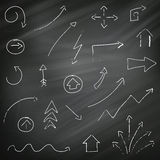 Arrows on a Chalkboard Background Royalty Free Stock Photos