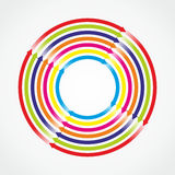Arrows. Circle with many colored and twisting arrows Royalty Free Stock Images