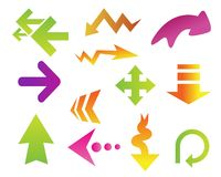 Arrows clipart set Royalty Free Stock Photography