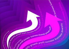 Rising arrows illustration Stock Photography
