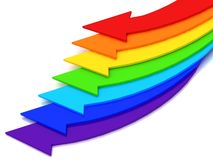 Arrows of color of rainbow Royalty Free Stock Images
