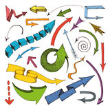 Arrows colored icon Stock Photo
