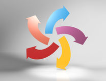 Arrows. Colorful 3d arrows-concept design Stock Photo