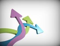 Arrows. Colorful 3d arrows-concept design Royalty Free Stock Photo