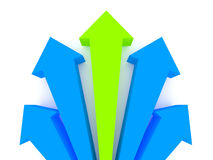 Arrows competition. stock illustration