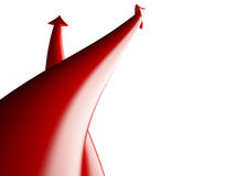 Arrows competition, 3D. Red arrows competition on white background, 3D Stock Photography
