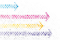 Arrows. Composed of small polka dots Stock Photos