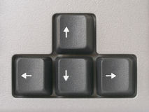Arrows (computer keyboard) Royalty Free Stock Photo