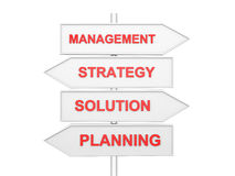 Arrows with conceptual image of strategy. Stock Photo