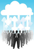 IT arrows connect business people cloud computing Stock Photo
