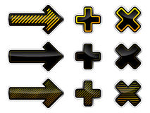 Arrows and crosses Stock Photo