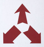 Arrows cut from paper Royalty Free Stock Photos