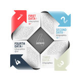 Arrows cycle. Infographics design element royalty free illustration