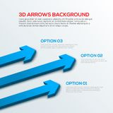 Arrows 3D background, infographic. 3D arrows background, infographic vector illustration Stock Photography