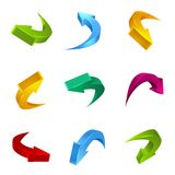 Arrows 3D. This is file of EPS10 format Royalty Free Stock Images