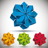 Arrows 3d icon. Royalty Free Stock Photography