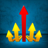 Arrows 3D Stock Images