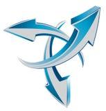 Arrows 3d web cursors Stock Photography