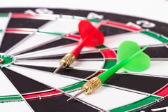 Arrows on Dart Board Stock Photography