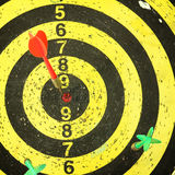 Arrows darts hit the target Stock Photography