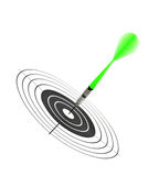 Arrows darts and target Royalty Free Stock Photography