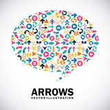Arrows design Stock Images
