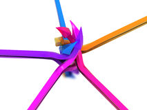 Arrows of different colors №1 Stock Photo