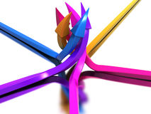 Arrows of different colors №2 Stock Photography
